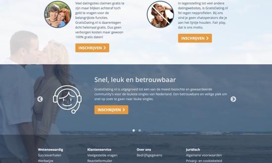 gratisdating.nl voorpagina